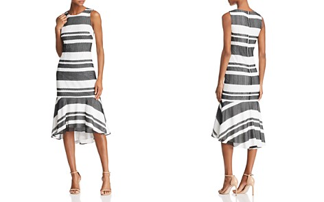 Adrianna Papell Striped Trumpet Dress - Bloomingdale's_2