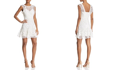BCBGMAXAZRIA Mixed Lace Dress - 100% Exclusive - Bloomingdale's_2