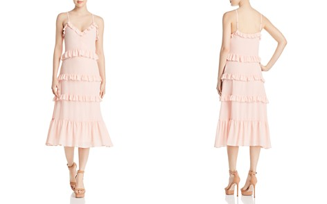 MICHAEL Michael Kors Ruffled Midi Dress - 100% Exclusive - Bloomingdale's_2