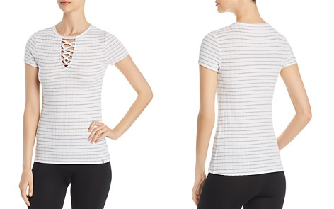 Marc New York Performance Striped Lace-Up Tee - Bloomingdale's_2