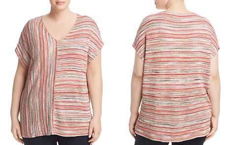 NIC+ZOE Plus Arizona Multi-Stripe Knit Top - Bloomingdale's_2