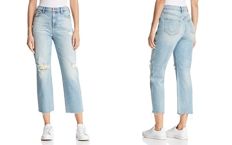 True Religion Starr High Rise Crop Straight Jeans in Indigo Erosion - Bloomingdale's_2