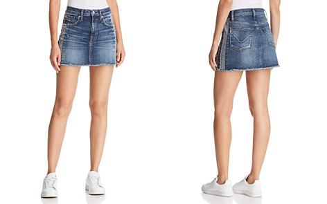 Hudson Viper Denim Mini Skirt in Rip Love - Bloomingdale's_2