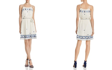 AQUA Embroidered Tie-Waist Dress - 100% Exclusive - Bloomingdale's_2