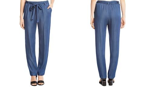 Karen Kane Belted Chambray Straight Pants - Bloomingdale's_2