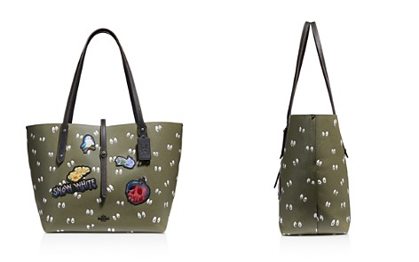 COACH x Disney Spooky Eyes Multi Patch Leather Market Tote - Bloomingdale's_2
