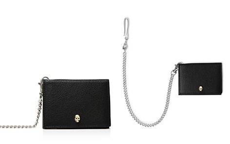 The Kooples Leather Card Case with Chain - Bloomingdale's_2