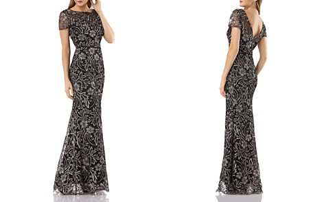 JS Collections Embroidered Mermaid Gown - Bloomingdale's_2