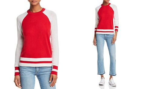 AQUA Cashmere Color-Block Raglan Cashmere Sweater - 100% Exclusive - Bloomingdale's_2