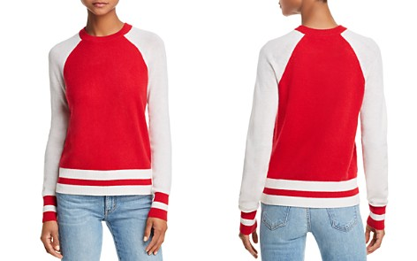 AQUA Color-Block Raglan Cashmere Sweater - 100% Exclusive - Bloomingdale's_2
