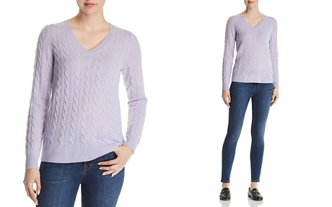C by Bloomingdale's Cable-Knit Cashmere Sweater - 100% Exclusive _2