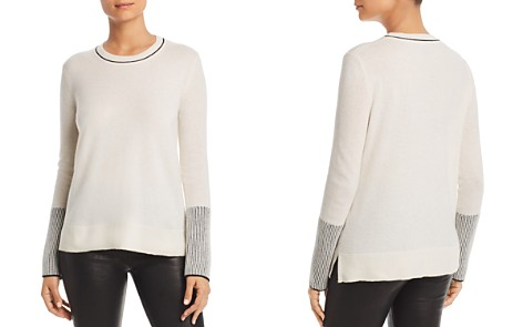 C by Bloomingdale's Rib-Knit Detail Cashmere Sweater - 100% Exclusive _2