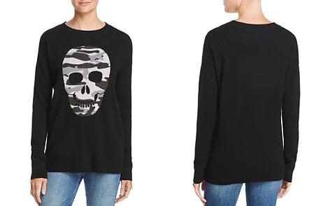 AQUA Cashmere Camo Skull Cashmere Sweater - 100% Exclusive - Bloomingdale's_2