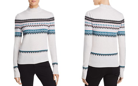 AQUA Cashmere Scalloped Fair Isle Cashmere Sweater - 100% Exclusive - Bloomingdale's_2