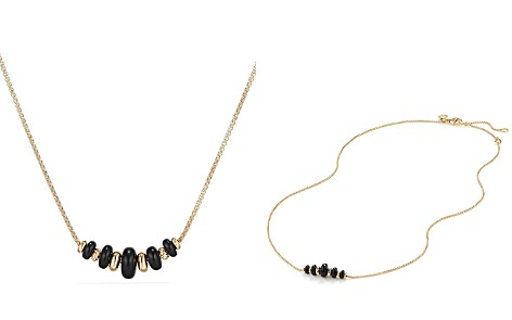 David Yurman Rio Rondelle Short Station Necklace with Black Agate in 18K Gold - Bloomingdale's_2