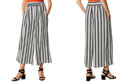 KAREN MILLEN Belt Detail Striped Culottes - Bloomingdale's_2
