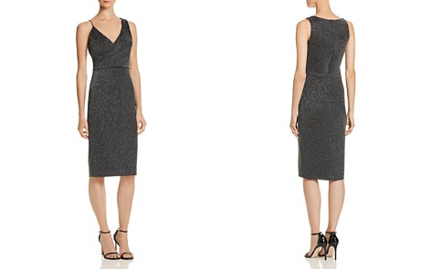 AQUA Metallic Knit Dress - 100% Exclusive - Bloomingdale's_2