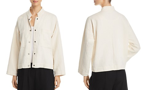 Eileen Fisher Petites Textured Organic-Cotton Jacket - Bloomingdale's_2