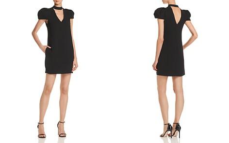 BCBGMAXAZRIA Choker-Neck Puff-Sleeve Dress - Bloomingdale's_2