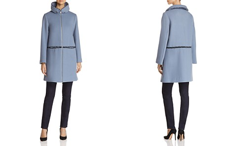 Emporio Armani Studded High-Neck Coat - Bloomingdale's_2