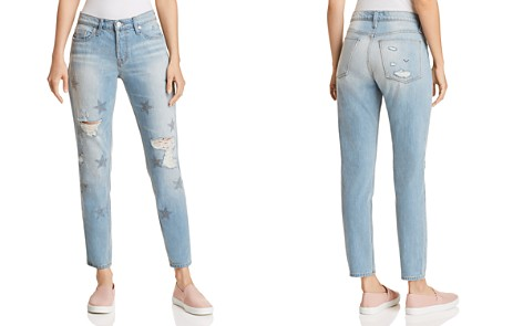 Hudson Riley Crop Relaxed Straight Jeans in Amplify - Bloomingdale's_2