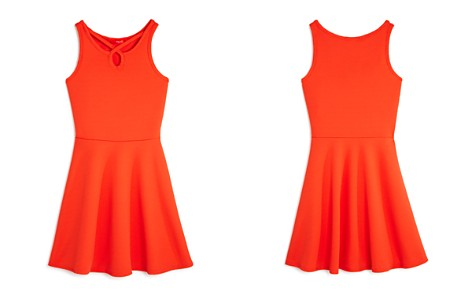 AQUA Girls' Textured Strappy Fit-and-Flare Dress, Big Kid - 100% Exclusive - Bloomingdale's_2