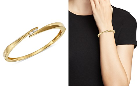 Bloomingdale's Diamond Trio Channel Bangle in 14K Yellow Gold, 0.30 ct. t.w. - 100% Exclusive _2