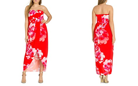 City Chic Plus Tango Floral Strapless Maxi Dress - Bloomingdale's_2