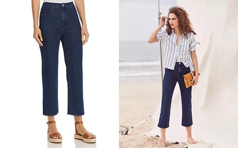 J Brand Joan High Rise Crop Wide Leg Jeans in Match - Bloomingdale's_2