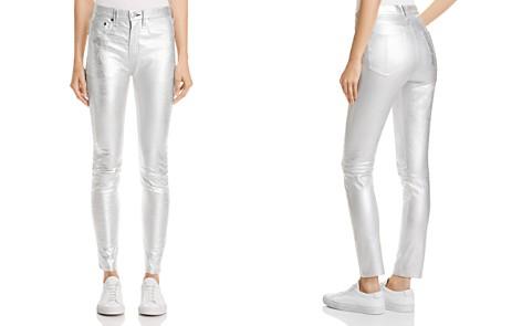 rag & bone/JEAN High-Rise Skinny Jeans in Silver Metallic - Bloomingdale's_2