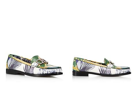 Salvatore Ferragamo Women's Rolo Printed Leather Reversible Gancini Loafers - Bloomingdale's_2