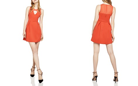 BCBGeneration Sleeveless Peek-a-Boo Fit-and-Flare Dress - Bloomingdale's_2