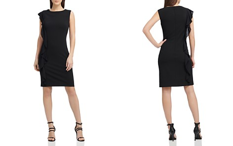 Donna Karan Asymmetric Scuba Crepe Dress - Bloomingdale's_2
