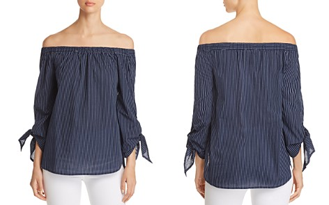 BeachLunchLounge Off-the-Shoulder Striped Top - Bloomingdale's_2
