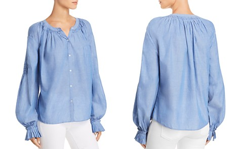 Joie Mineko Smocked Shirt - Bloomingdale's_2