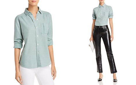 Joie Brenta Shirred-Detail Shirt - Bloomingdale's_2