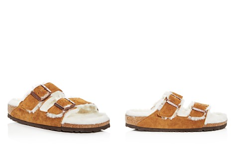 Birkenstock Women's Arizona Suede & Shearling Slide Sandals - Bloomingdale's_2