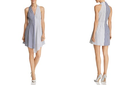AQUA Mixed Stripe Poplin Dress - 100% Exclusive - Bloomingdale's_2