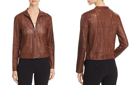 Elie Tahari Highline Laser-Cut Leather Jacket - Bloomingdale's_2