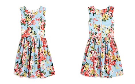 AQUA Girls' Floral-Print Fit-and-Flare Dress, Big Kid - 100% Exclusive - Bloomingdale's_2