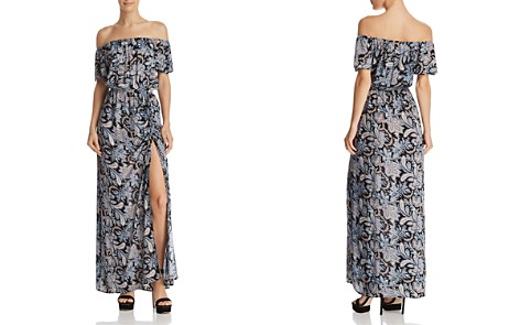 AQUA Paisley Off-the-Shoulder Maxi Dress - 100% Exclusive - Bloomingdale's_2