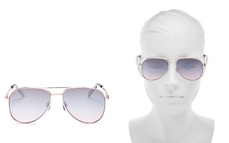 Le Specs Women's Kingdom Mirrored Brow Bar Sunglasses, 57mm - Bloomingdale's_2