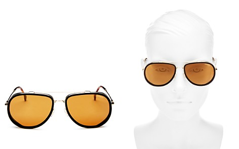 Carrera Women's Mirrored Brow Bar Aviator Sunglasses, 59mm - Bloomingdale's_2