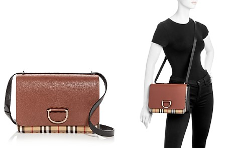 Burberry Medium Vintage Check & Leather D-Ring Bag - Bloomingdale's_2