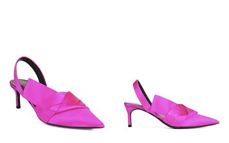Via Spiga Women's Elisha Satin Kitten Heel Slingback Pumps - Bloomingdale's_2