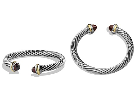 David Yurman Cable Classics Bracelet with Garnet & 14K Gold - Bloomingdale's_2