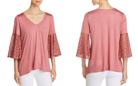Status by Chenault Lace Bell Sleeve Top - 100% Exclusive - Bloomingdale's_2