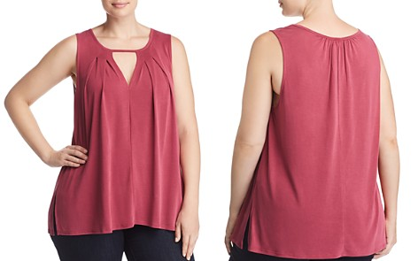 Lucky Brand Plus Pleated Cutout Tank - Bloomingdale's_2