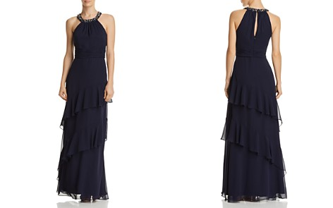 Eliza J Embellished Collar Gown - Bloomingdale's_2