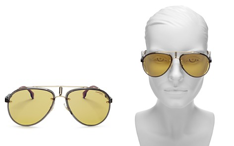 Carrera Women's Glory Mirrored Brow Bar Aviator Sunglasses, 58mm - Bloomingdale's_2